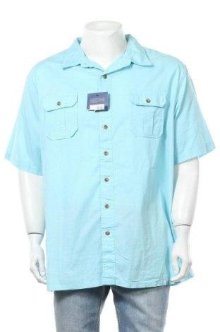 Мъжка риза Croft & Barrow, Размер XXL, Цвят Син, Памук, Цена 26,25лв.