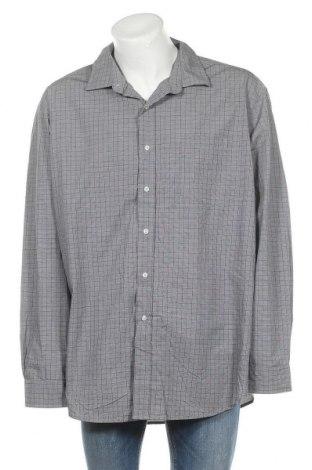 Мъжка риза George, Размер 4XL, Цвят Сив, Памук, Цена 17,85лв.