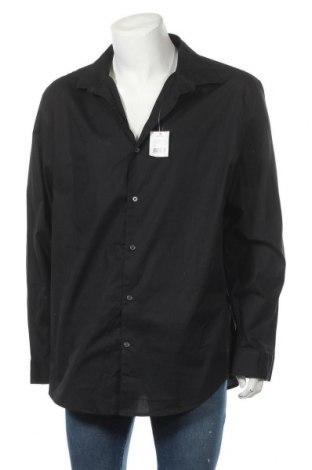 Мъжка риза George, Размер XXL, Цвят Черен, 97% памук, 3% еластан, Цена 27,30лв.