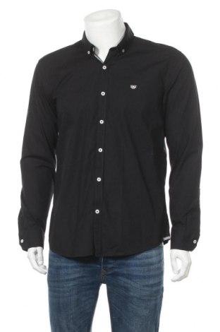 Мъжка риза Giorgio Di Mare, Размер L, Цвят Черен, Памук, Цена 53,36лв.