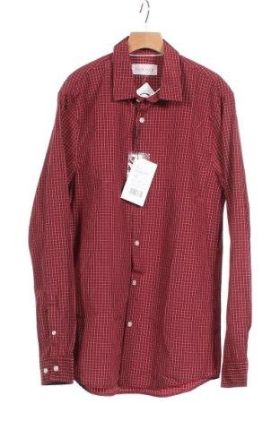 Ανδρικό πουκάμισο Pier One, Μέγεθος S, Χρώμα Κόκκινο, 50% βαμβάκι, 50% πολυεστέρας, Τιμή 2,12€