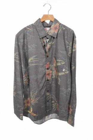 Ανδρικό πουκάμισο Quiksilver, Μέγεθος XS, Χρώμα Γκρί, 100% βαμβάκι, Τιμή 12,37€