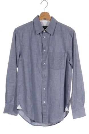 Ανδρικό πουκάμισο Rag & Bone, Μέγεθος XS, Χρώμα Μπλέ, 69% βαμβάκι, 31% λινό, Τιμή 52,69€