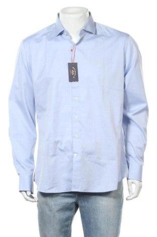 Ανδρικό πουκάμισο Spagnolo, Μέγεθος L, Χρώμα Μπλέ, Βαμβάκι, Τιμή 12,22€