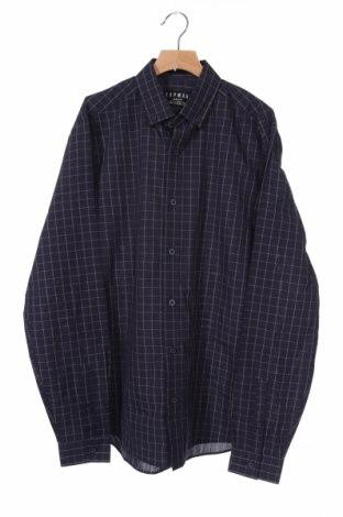 Мъжка риза Topman, Размер S, Цвят Син, 65% полиестер, 35% памук, Цена 3,00лв.