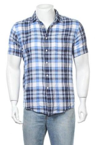 Мъжка риза Uniqlo, Размер S, Цвят Многоцветен, 57% лен, 43% памук, Цена 13,44лв.