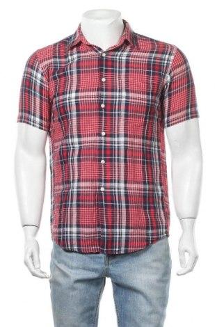 Мъжка риза Uniqlo, Размер S, Цвят Червен, 57% лен, 43% памук, Цена 5,36лв.