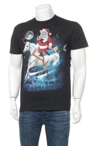 Мъжка тениска, Размер M, Цвят Черен, Памук, Цена 25,20лв.