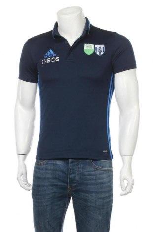 Мъжка тениска Adidas, Размер S, Цвят Син, Полиестер, Цена 14,28лв.