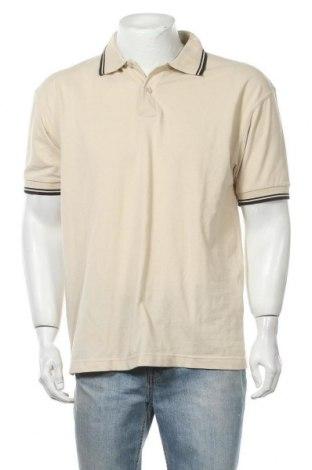 Мъжка тениска Biaggini, Размер L, Цвят Бежов, 60% памук, 40% полиестер, Цена 14,18лв.