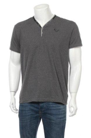 Мъжка тениска Bruno Banani, Размер L, Цвят Сив, 48% памук, 47% полиестер, 5% еластан, Цена 14,70лв.