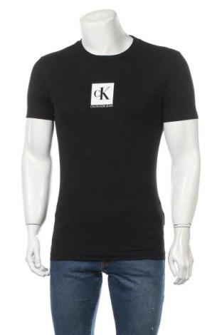 Мъжка тениска Calvin Klein Jeans, Размер S, Цвят Черен, 94% памук, 6% еластан, Цена 59,25лв.