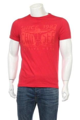 Мъжка тениска Chiemsee, Размер S, Цвят Червен, 65% полиестер, 35% памук, Цена 14,28лв.