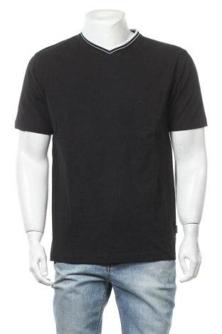 Мъжка тениска Daniel Hechter, Размер L, Цвят Черен, Памук, Цена 28,50лв.