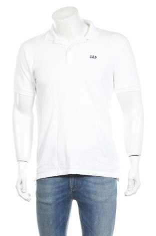 Мъжка тениска Gap, Размер S, Цвят Бял, 98% памук, 2% еластан, Цена 28,50лв.