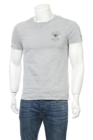 Мъжка тениска Garcia Jeans, Размер M, Цвят Сив, Памук, Цена 16,80лв.