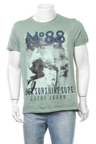 Мъжка тениска Gaudi, Размер L, Цвят Сив, Памук, Цена 20,53лв.