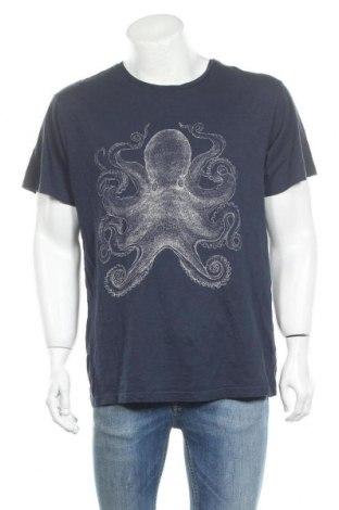 Мъжка тениска H&M L.O.G.G., Размер L, Цвят Син, 100% памук, Цена 15,75лв.