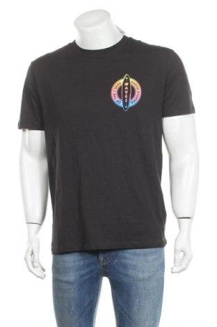 Мъжка тениска H&M L.O.G.G., Размер M, Цвят Черен, Памук, Цена 21,84лв.