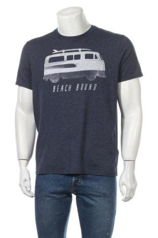 Мъжка тениска Hollister, Размер XL, Цвят Син, 60% вискоза, 40% полиестер, Цена 16,80лв.