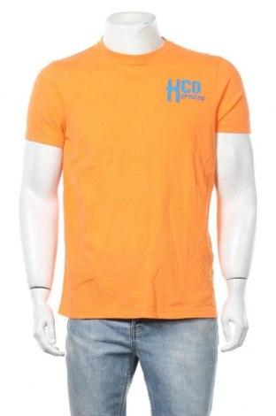 Мъжка тениска Hollister, Размер XL, Цвят Оранжев, Памук, Цена 26,25лв.