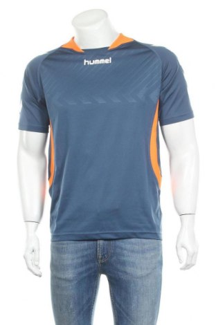 Ανδρικό t-shirt Hummel, Μέγεθος L, Χρώμα Μπλέ, Πολυεστέρας, Τιμή 6,23€