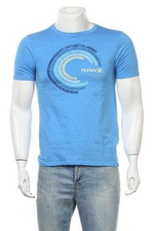 Мъжка тениска Hurley, Размер S, Цвят Син, 52% памук, 48% полиестер, Цена 15,12лв.