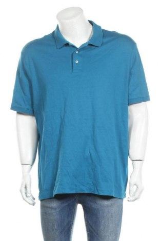 Мъжка тениска Land's End, Размер XXL, Цвят Син, Памук, Цена 15,17лв.