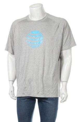 Мъжка тениска Land's End, Размер XL, Цвят Сив, 92% полиестер, 8% еластан, Цена 16,07лв.