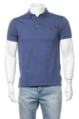 Pánské tričko  Polo By Ralph Lauren, Velikost M, Barva Modrá, 97% bavlna, 3% elastan, Cena  1259,00Kč