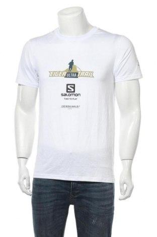 Мъжка тениска Salomon, Размер M, Цвят Бял, Цена 16,96лв.