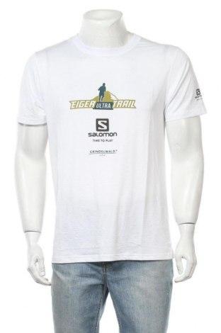 Мъжка тениска Salomon, Размер L, Цвят Бял, Цена 16,96лв.
