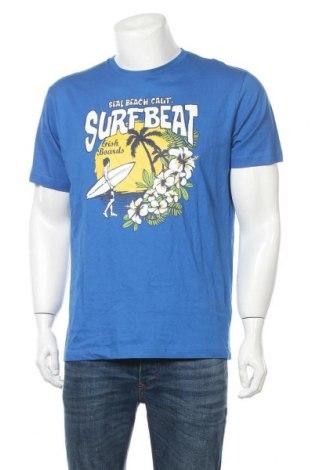 Ανδρικό t-shirt Tex, Μέγεθος M, Χρώμα Μπλέ, Βαμβάκι, Τιμή 10,98€