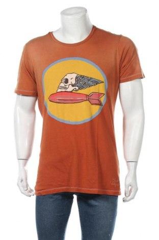 Мъжка тениска True Religion, Размер XL, Цвят Кафяв, Памук, Цена 23,21лв.