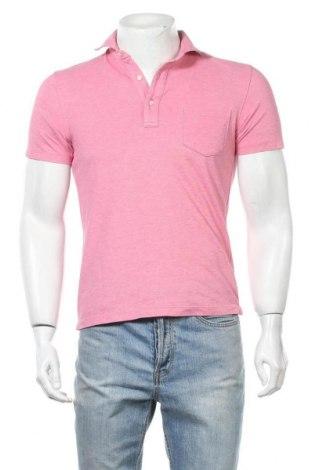 Мъжка тениска Uniqlo, Размер S, Цвят Розов, 73% памук, 27% полиестер, Цена 16,96лв.