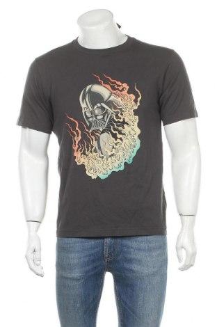Мъжка тениска Uniqlo, Размер M, Цвят Сив, Памук, Цена 26,78лв.