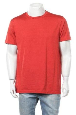 Мъжка тениска Uniqlo, Размер M, Цвят Червен, Полиестер, Цена 13,39лв.