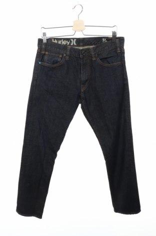 Мъжки дънки Hurley, Размер M, Цвят Син, 99% памук, 1% еластан, Цена 41,58лв.