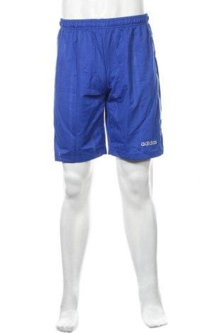 Ανδρικό κοντό παντελόνι Adidas, Μέγεθος S, Χρώμα Μπλέ, Πολυεστέρας, Τιμή 26,68€