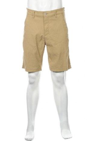Мъжки къс панталон Eddie Bauer, Размер M, Цвят Бежов, 94% памук, 6% еластан, Цена 18,90лв.
