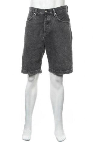 Мъжки къс панталон H&M L.O.G.G., Размер L, Цвят Сив, Памук, Цена 19,32лв.
