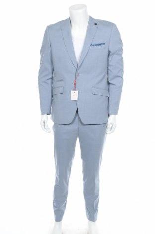 Мъжки костюм Bruno Banani, Размер M, Цвят Син, 69% полиестер, 29% вискоза, 2% еластан, Цена 176,12лв.