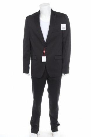 Мъжки костюм Bruno Banani, Размер L, Цвят Черен, 84% полиестер, 14% вискоза, 2% еластан, Цена 176,12лв.