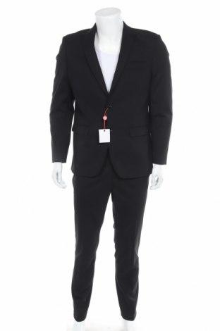 Мъжки костюм Bruno Banani, Размер M, Цвят Черен, 69% полиестер, 29% вискоза, 2% еластан, Цена 176,12лв.