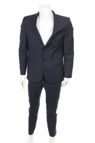 Мъжки костюм Daniel Hechter, Размер L, Цвят Син, Вълна, Цена 92,40лв.