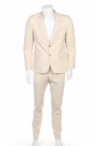 Мъжки костюм Paul Smith, Размер L, Цвят Бежов, Вълна, Цена 123,80лв.