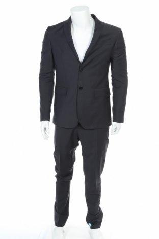 Мъжки костюм Trussardi Jeans, Размер L, Цвят Черен, 65% полиестер, 35% вискоза, Цена 197,45лв.