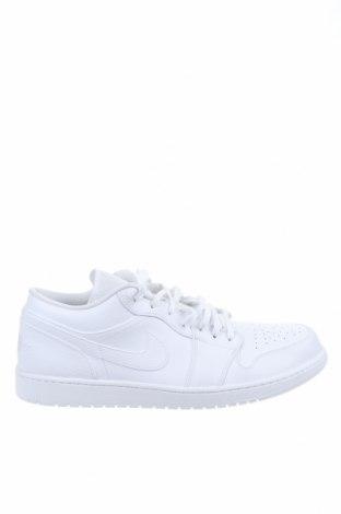Ανδρικά παπούτσια Air Jordan Nike, Μέγεθος 51, Χρώμα Λευκό, Γνήσιο δέρμα, δερματίνη, Τιμή 64,92€