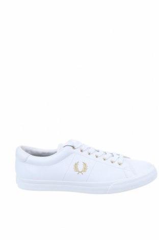Ανδρικά παπούτσια Fred Perry, Μέγεθος 44, Χρώμα Λευκό, Γνήσιο δέρμα, Τιμή 52,27€