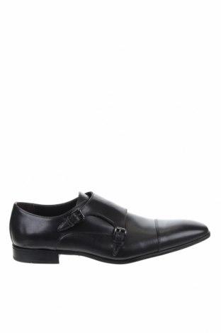 Ανδρικά παπούτσια Giorgio, Μέγεθος 49, Χρώμα Μαύρο, Γνήσιο δέρμα, Τιμή 32,29€